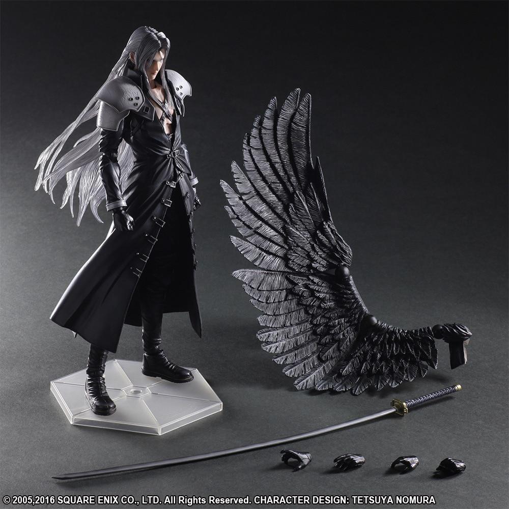 PLAY Arts Kai Final Fantasy VII 7 Sephiroth PVC Action Figure Collectible Model Toy 26cm