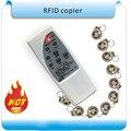 Envío gratis 4 frecuencia EM4100 RFID Copiadora/Duplicador/Cloner ID EM lector y escritor + 10 unids T5557 cristal llavero