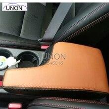Coche Reposabrazos Central de Cubierta Protector Pad Ajuste para Mazda CX-5 2015 caja de los Apoyabrazos de Cuero almohadilla de protección