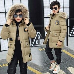 Image 3 - 키즈 겨울 자켓 소년 공원 12 어린이 의류 13 소년 14 겨울 의류 15 16 재킷 두꺼운 면화 30도