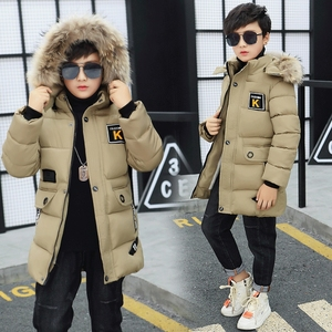 Image 3 - Kid Winter Jacket A Boy Park 12 Childrens Clothing 13 Boys 14 Winter Clothing 15 Jacket 16 Thick Cotton Thickening  30 Degrees