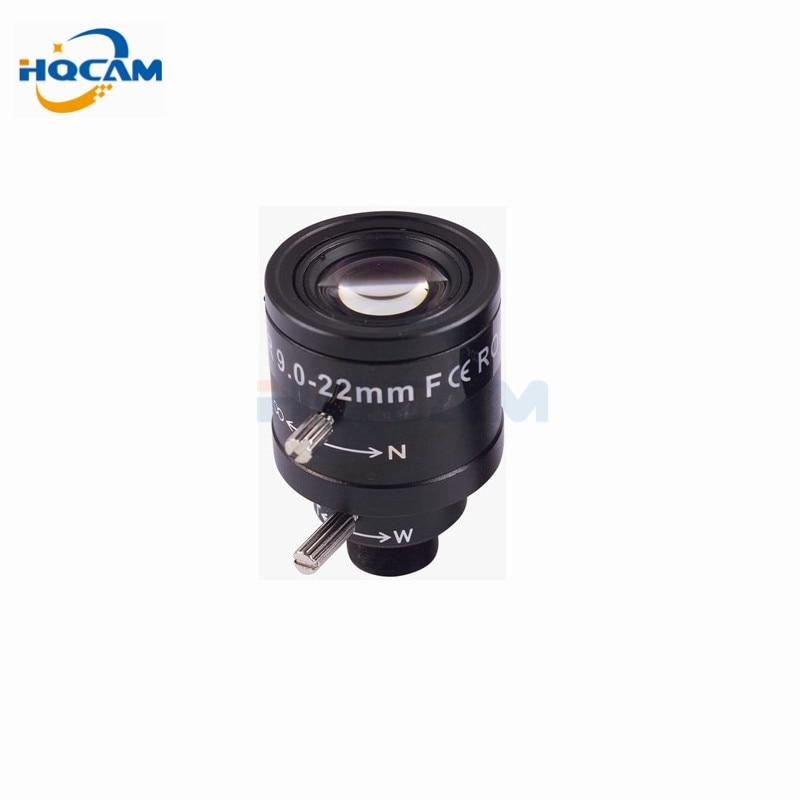 HQCAM 9-22mm manuelle vario-zoom-objektiv festen iris HD CCTV kamera objektiv 9-22mm varioobjektiv manuelle zoom & focus M12 1/2. 7