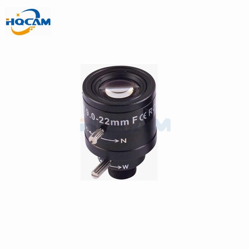 Hqcam 9-22mm lente de zoom varifocal manual Iris fijo CCTV lente de la Cámara 9-22mm varifocal lente zoom manual y enfoque M12 1/2. 7