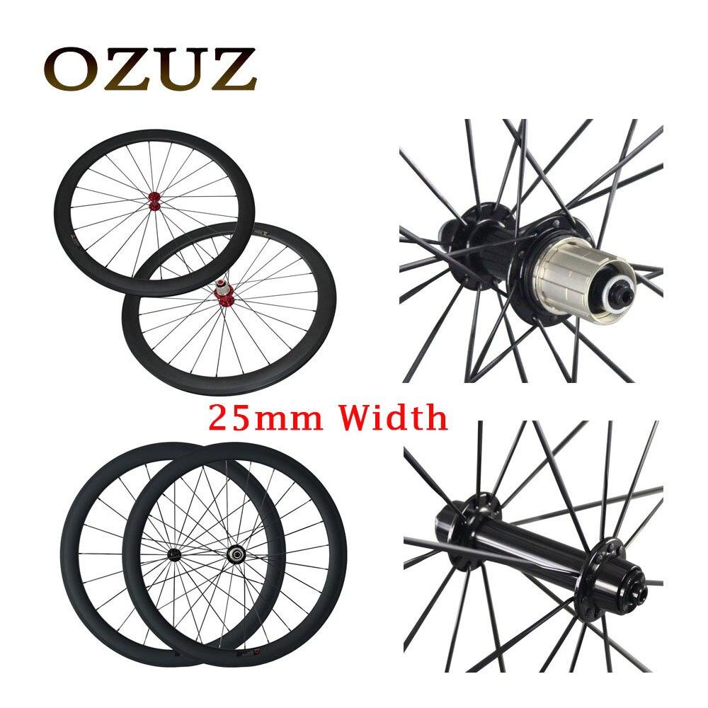 V de frein en céramique portant 25mm largeur carbone roues 38mm 50mm pneu profonde 3 k mat droite pull 700c vélo de route roue libre d'impôt