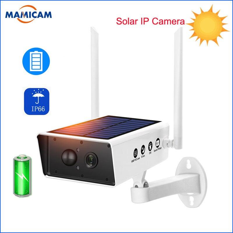 1080 P caméra solaire HD Surveillance de Charge de batterie CCTV étanche sécurité extérieure IP WIFI caméras Audio PIR détection de mouvement