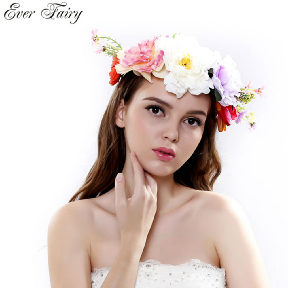 Aliexpress buy bridesmaid artificial flower head wreath for aliexpress buy bridesmaid artificial flower head wreath for hair floral headband hair accessories flower crown from reliable wreath for hair suppliers izmirmasajfo