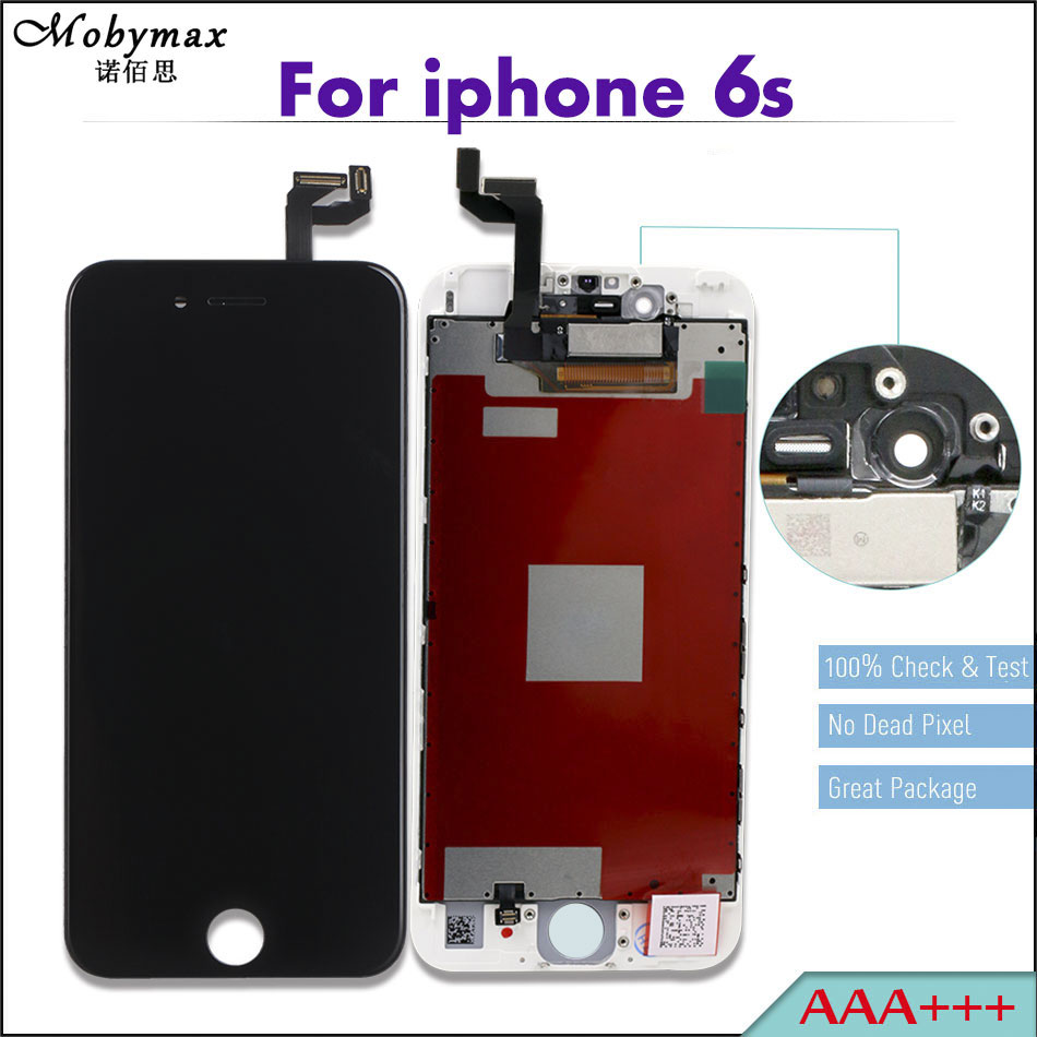 Mobymax 100% AAA+++ LCD Display Complete Ecran Pantalla For iPhone 6s Repair Tela Module Touch Glass Screen Digitizer Assembly