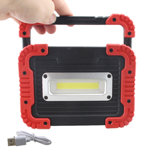 2 mode 30W COB Work Light Lampe Led Portable Spotlight For Hunting Camping Latern Flashlight NO battery
