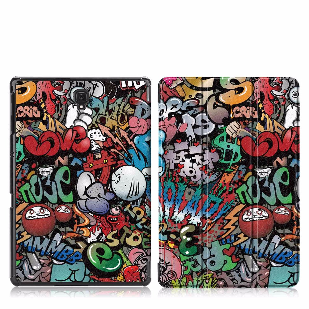Ultra Slim Painted PU Leather Case For Samsung Galaxy Tab A 10.5 2018 SM-T590 T595 T597 Tablet Cover For Galaxy Tab A 10.5 Case