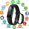 LIGE Smart uhr Männer frauen Wasserdichte Smart armband Herz Rate Blutdruck Monitor Fitness Tracker Bluetooth Für IOS/Android