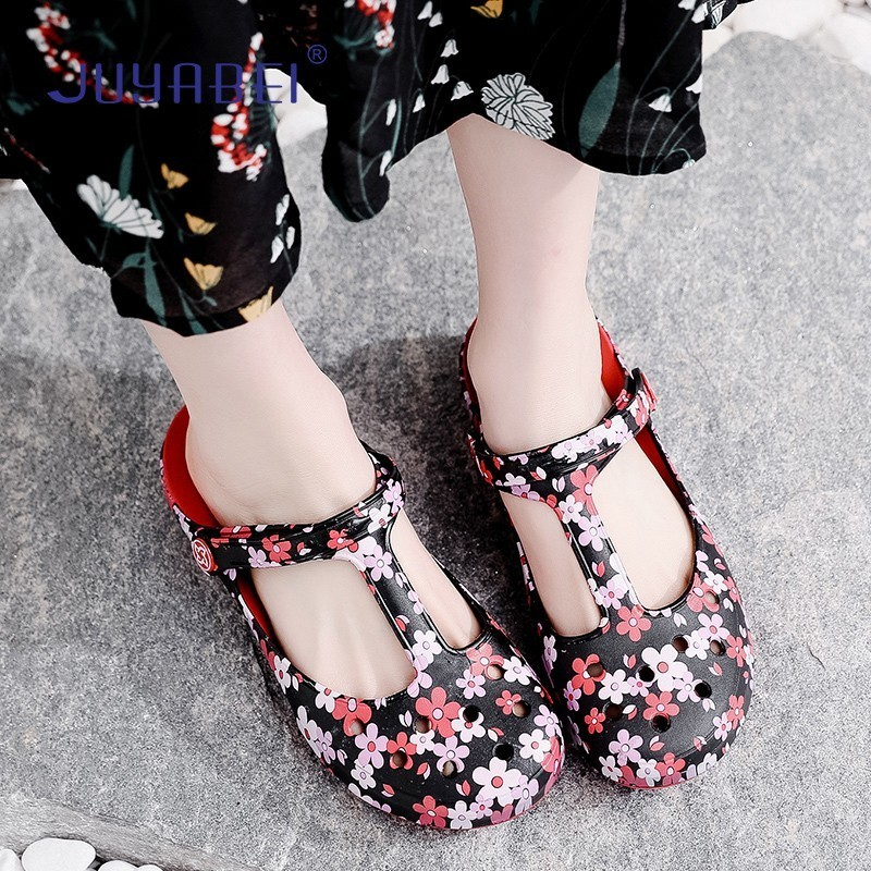 Printing Nurse Shoes Summer Breathable Sandals Women Hospital Laboratory Beauty Salon Dental Clinic Pharmacy Medical Shoes
