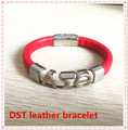 2017 new delta sigma theta magnetic leather bracelet DST white red bangles sorority fraternity leather jewelry OGL015,1-10pcs