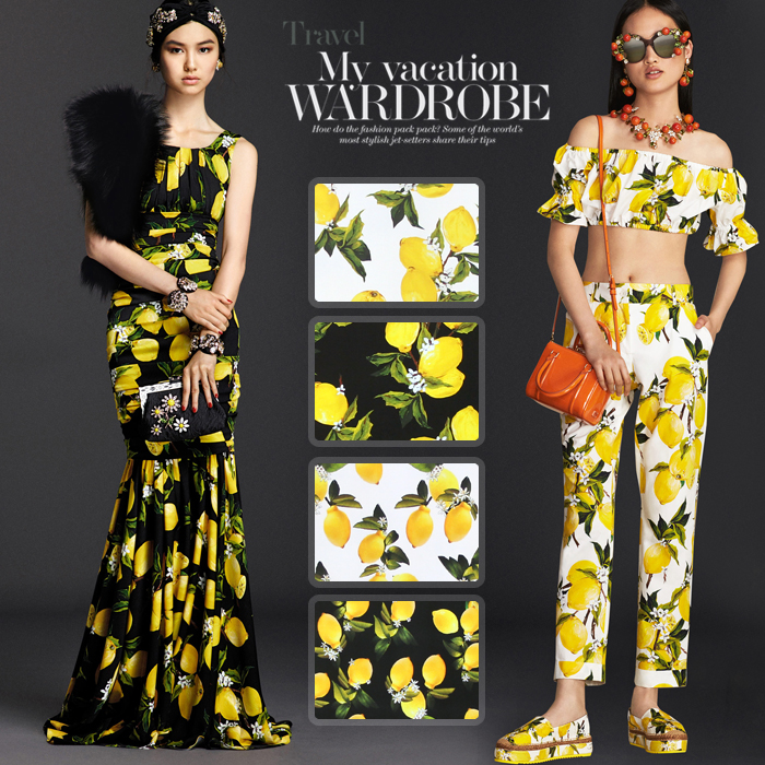 118cm wide 19mm 93% silk & 7% lovely lemon print silk satin fabric for dress shirt clothes cheongsam D320118cm wide 19mm 93% silk & 7% lovely lemon print silk satin fabric for dress shirt clothes cheongsam D320