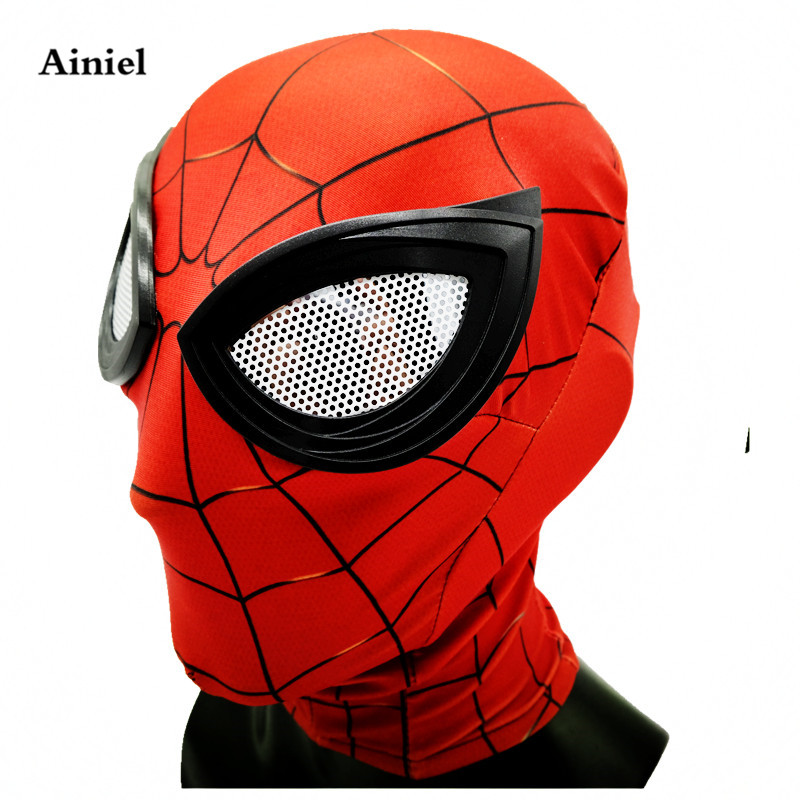 Ainiel Avengers Infinity War Iron Spider Man Mask Superhero Homecoming Spiderman Cosplay Costume Halloween Helmet for Adult Kids