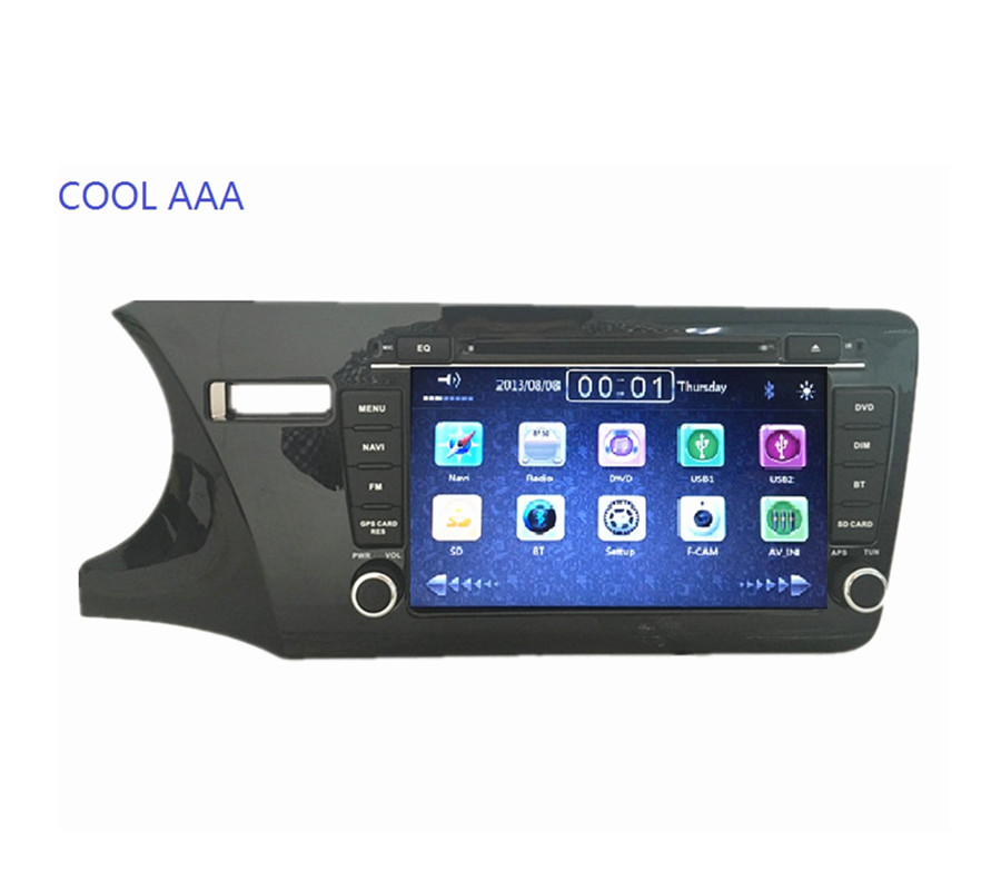 2din 2 DIN автомагнитолы dvd GPS плеер для Honda City 2014 2015 indash головного устройства Стерео GPS навигации с Bluetooth 3G Ipod 1080 P