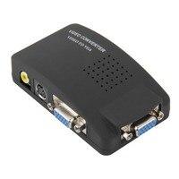 Hot New PC Laptop Composite AV S Video To VGA TV Converter Monitor Adapter Switch Box