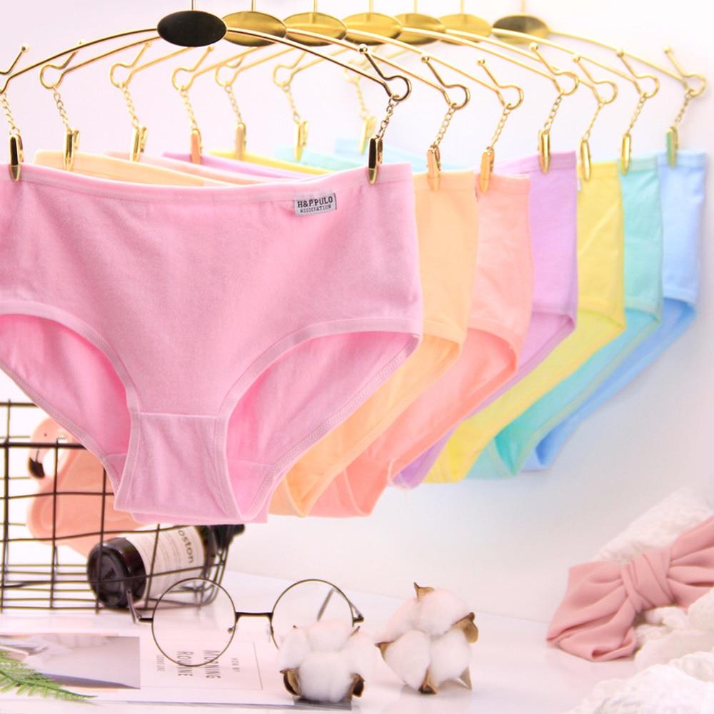 ( 3pcs random color ) Summer Breathable Comfortable Cotton Briefs Fashionable Low-Women Hips Panties Ladies Underwear
