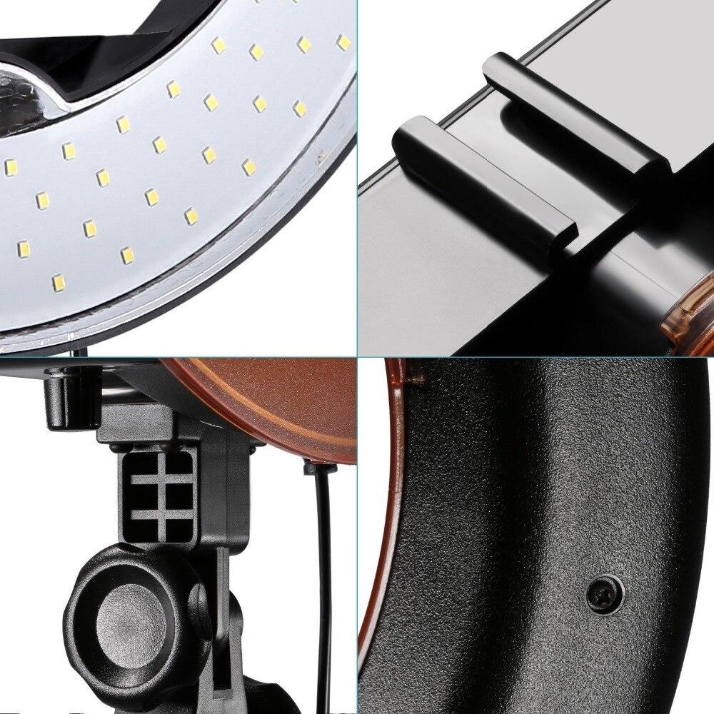 Neewer камера фото/видео светодиодный SMD кольцевой свет 5500 K кольцо с регулируемой яркостью видео свет с пластиковым цветным фильтром и универс... - 6