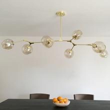 Винтажный волшебный подвесной светильник, стильный шар, промышленный Лофт, железный подвесной светильник, черное золотое дерево, Классическая современная светодиодная Подвесная лампа