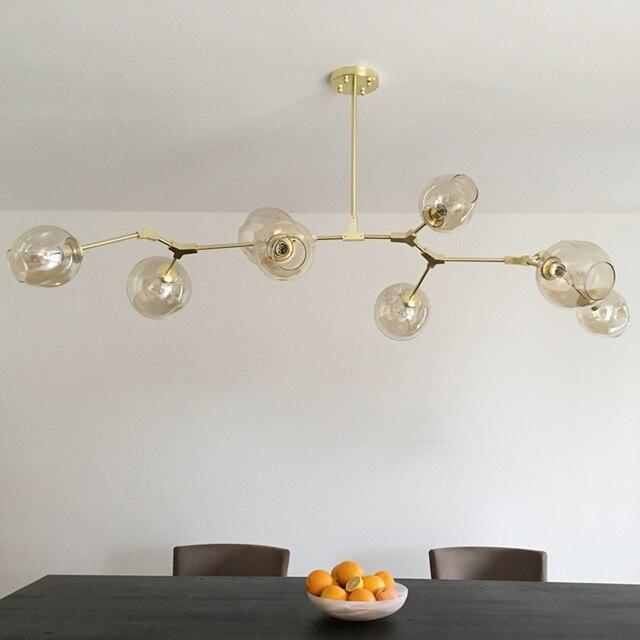 Винтажная Волшебная Подвесная лампа стильная насадка шар промышленный чердак Железный droplight черное золотое дерево классический современный светодиодный подвесной светильник