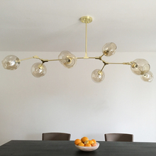 Vintage magia wisząca lampa stylowy kula ball przemysłowe LOFT żelazna lampa opuszczana czarny złote drzewo klasyczny nowoczesny wisiorek LED lampa