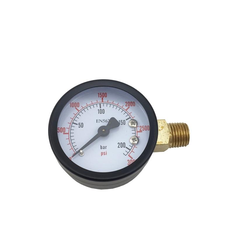 High Pressure Replacement Gauge, 0 - 3000 PSI, Home brewing Co2 Pressure Regulator Gauge (4)