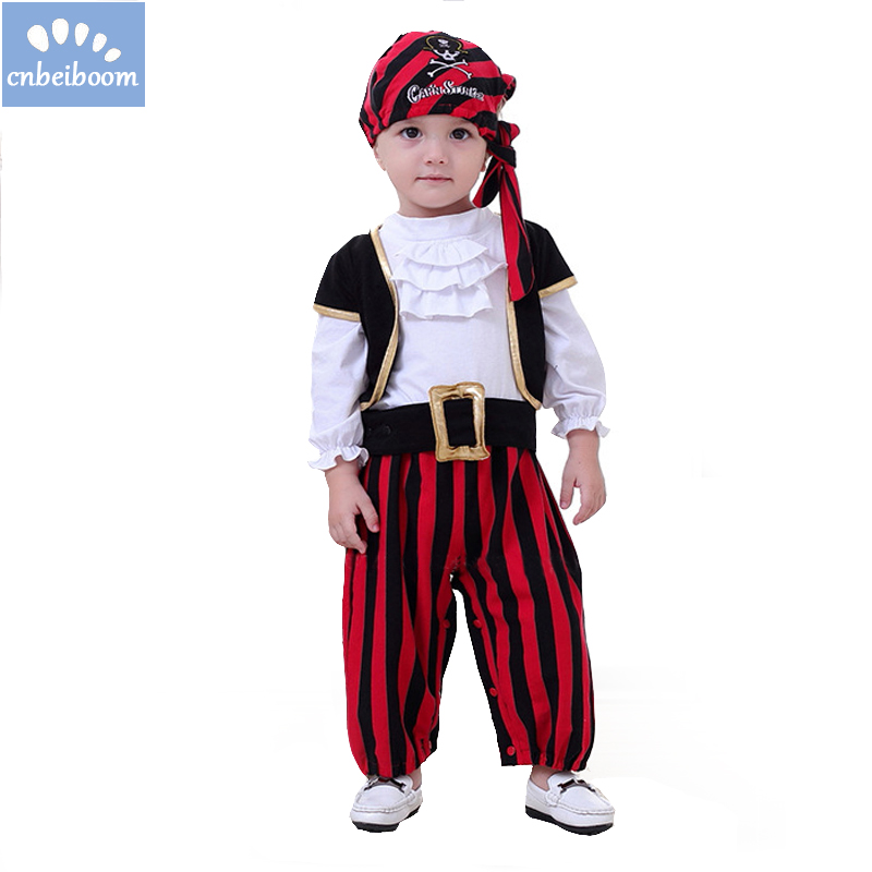 Halloween Boys Set Cosplay Children's Pirate Costume Dance Boys Set Children Clothes Baby's Sets Christmas Gift 2018 new years men fashion autumn and winter men s hooded leisure sweatshirt