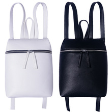 Hot Simple Small Casual Women Fashion Faux PU Leather Multi-pocket Backpack Travel Girl Ladies Fashion Rucksack Back Bags -47