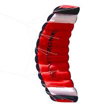 180cm * 65cm Dual Line Parachute Stunt Kite with Flying Tools Parafoil Kite Outdoor Beach Fun Sports toys for children(China)