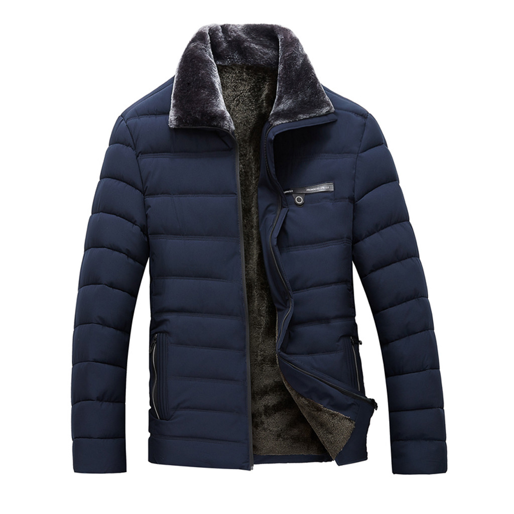 2019 Mode Youyedian 2019 Männer Der Winter Mode Revers Zipper Casual Verdickung Warme Baumwolle Jacke Mantel