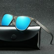 Polarized Sunglasses Men Vintage Aluminum Driving Glasses For Oculos Masculino Male Can Engrave Logo