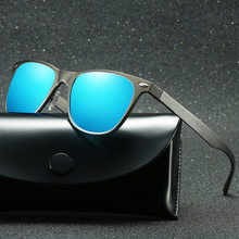 Polarized Sunglasses Men Vintage Aluminum Driving Glasses For Oculos Masculino Male Can Engrave Logo(China)