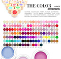 2016 Colors CANNI Solid Pure Glitter UV Soak Off Gel Paint Set Nail Art False Full French Tips Salon Charming 516-534