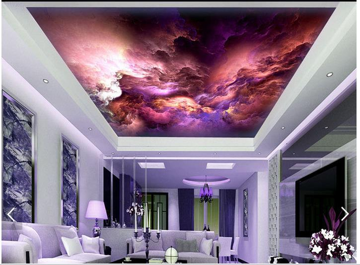 3D wallpaper custom 3d ceiling wallpaper murals Beautiful sky clouds ceiling frescoes wall paper 3d living room photo wallpaper