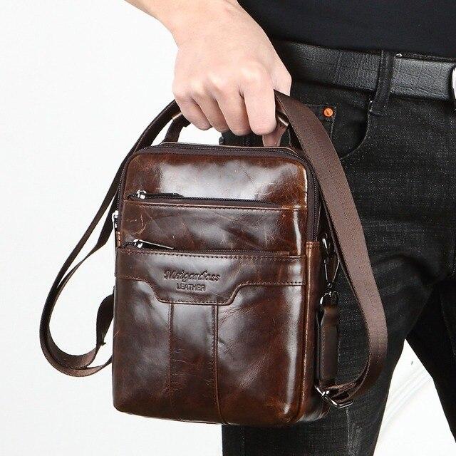 MEIGARDASS NOVO estilo genuíno mensageiro sacos de couro para homens pequena bolsa de ombro bolsas masculinas