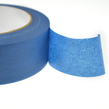 Free shipping 1roll *35mm *50m  Blue Color Crepe Paper with rubber glue for decoration and painting
