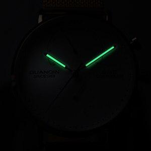 Image 3 - 2019 Mens นาฬิกา GUANQIN Top Brand Luxury Luminous นาฬิกาผู้ชายธุรกิจเหล็กเต็มรูปแบบ Creative นาฬิกาข้อมือควอตซ์ Relogio Masculino