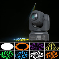 China bright LED 30W Mini led spot moving head light 30W DMX dj 8 gobos effect stage lights for ktv bar disco party