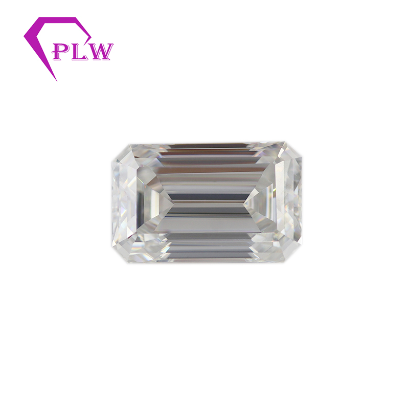 Provence jewelry Loose moissanite 0.2 carat 2*4 mm D color emerald cut  test positive gemstones for bracelet  ring chain earringProvence jewelry Loose moissanite 0.2 carat 2*4 mm D color emerald cut  test positive gemstones for bracelet  ring chain earring