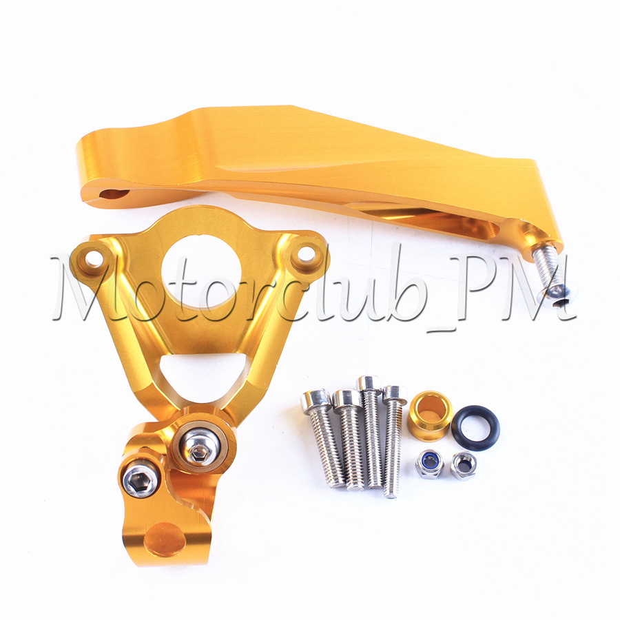 For Honda CBR600RR Steering Damper Stabilizer Bracket Mounting Holder 2007-2016 2008 09 2010 2015 Replacement New Gold fxcnc aluminum motorcycle steering stabilizer damper mounting bracket support kit for yamaha fz1 fazer 2006 2015 2007 2008 09