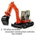 El envío gratuito! 2014 super cool! 1: 50 de la aleación de diapositivas Pequeño excavadora juguete vehículos de construcción de modelos, el favorito de Los Niños