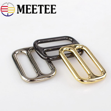 Meetee 5pcs 25/32/38mm Metal Bag Buckle Shoes Belt Buckles Handbag Strap Webbing Snap Hooks DIY Accessories Hardware BD263