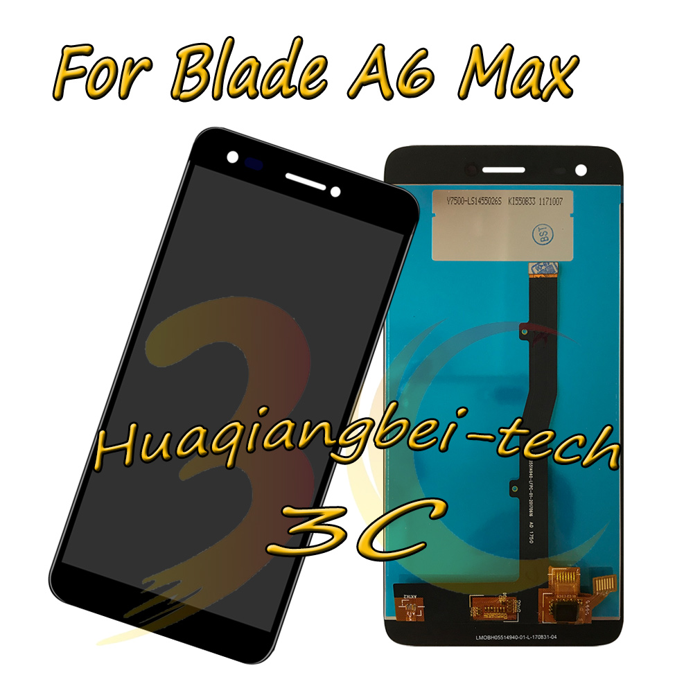 5.5 New Black For ZTE Blade A6 Max Full LCD DIsplay + Touch Screen Digitizer Assembly 100% Tested With Tracking-in Mobile Phone LCD Screens from Cellphones & Telecommunications on