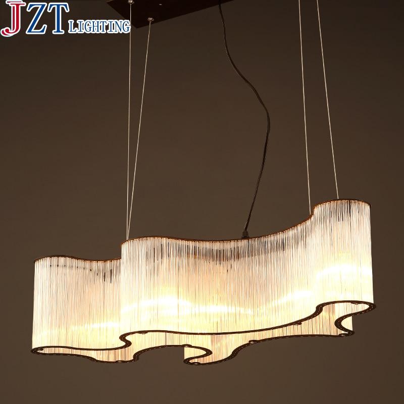 M Nordic Minimalist Chandelier American Creative Personality Atmospheric Restaurant Cafe Bar Iron Crystal Hanging Light цена и фото