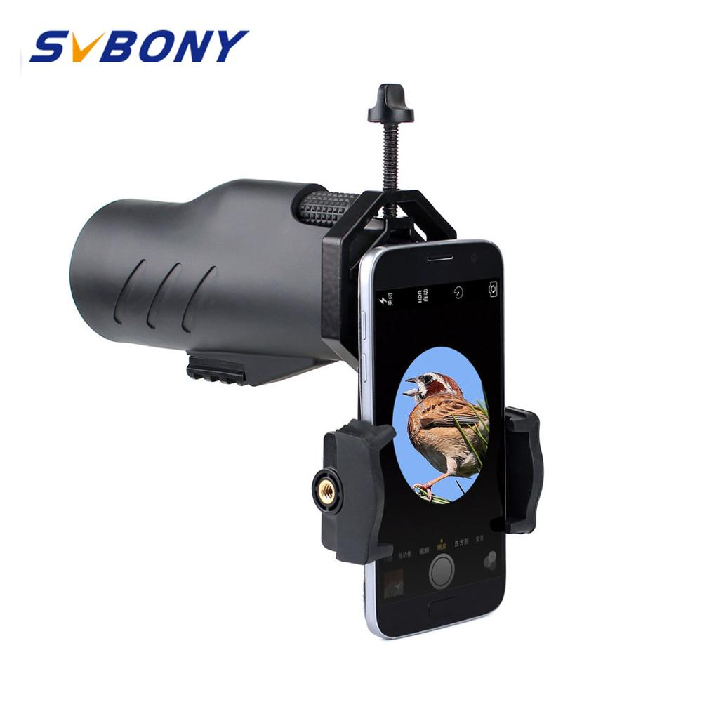 SVBONY Monocular 10x50 12x50 Telescope BAK4 Prism Waterproof Broadband MC for Hunting Camping Hiking w Cell