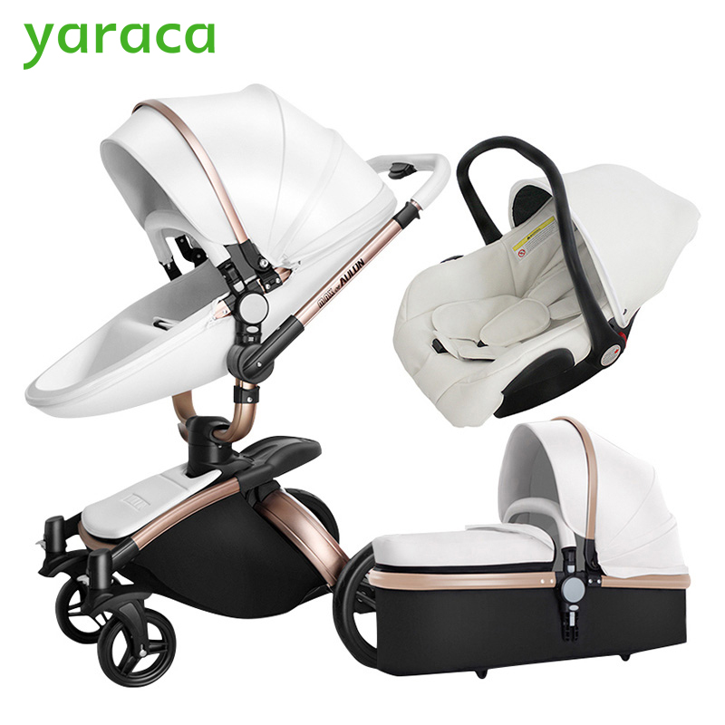Baby Stroller 3 in 1 Car Seat High View Pram For Newborns Folding Baby Carriage 360 Degree Rotation Travel System Baby Trolley термокружка emsa travel mug 360 мл 513351