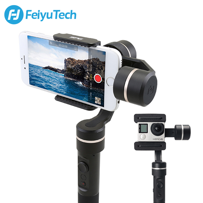 FeiyuTech SPG 3-Axis Gimbal Splash Proof Motorized Handheld Stabilizer for iPhone X 8 7 6 Plus Smartphone Gopro Action Camera wewow sport x1 handheld gimbal stabilizer 1 axis for gopro hreo 3 3 4 smartphone iphone 7 plus yi 4k sjcam aee action camera