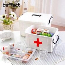 Baffect многослойная большая Семейная Аптечка для первой помощи коробка медицинская коробка для хранения медицинская пластиковая аптечка Органайзер коробки