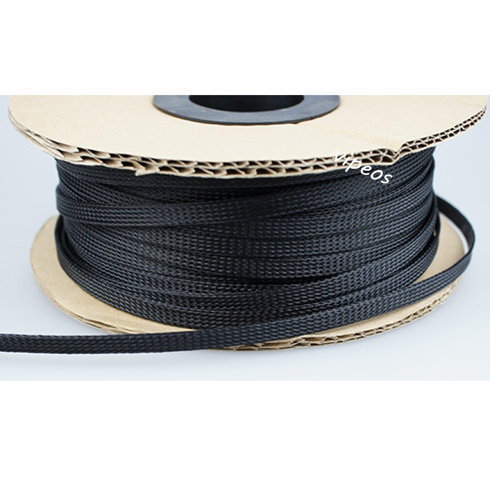 braided wire loom promotion shop for promotional braided wire loom 10meter braided cable 10 20mm wiring harness loom protection sleeving black for diy rca cable power cable speaker cable