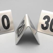 20 шт./партия(номер From1-20) стол из нержавеющей стали с таблицей цифров ресторанная карта- площадь 5x5 см